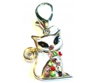 Jewelled Cat Charm